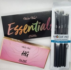 Violet Voss Palettes & Moda Pro Brush Set Bundle